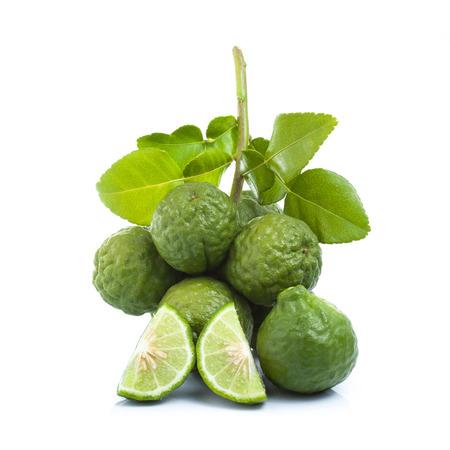 Bergamot fruit op een witte achtergrond. Stockfoto