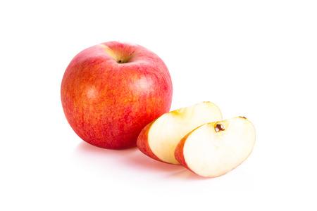 ripe apple on white background