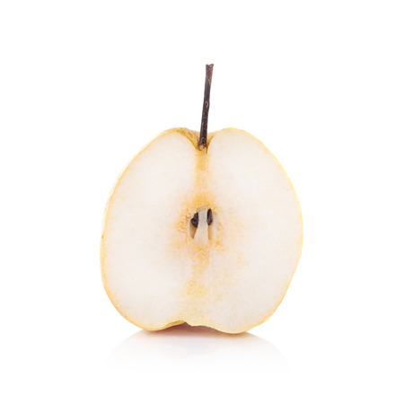 asian pear: pear on white background Stock Photo