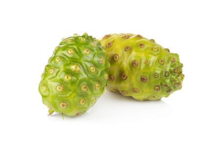 Exotic Fruit Noni on a white background photo