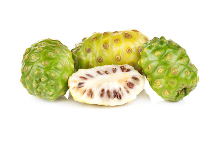 Exotic Fruit Noni on a white background photo