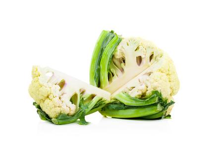 fresh cauliflower on white background Stock Photo