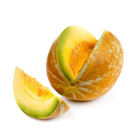 honeydew melon on white background Stock Photo