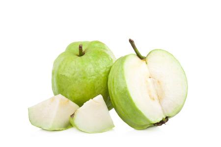 guava fruit on white background