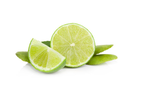 lime: Fresh lime Isolated on white background