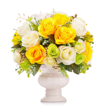 bouquet fleurs: Fleur en plastique pour la décoration