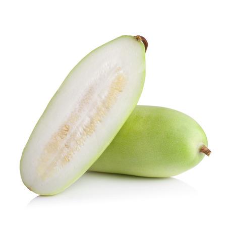 perishable: Lagenaria vulgaris fruit isolated on white background