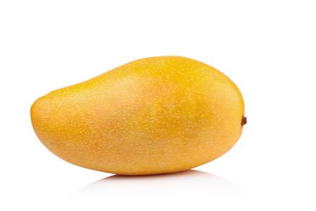 Yellow mango isolated on white background Archivio Fotografico