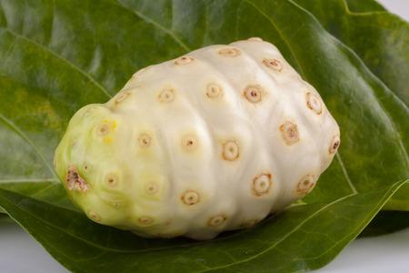 noni: Exotic Fruit Noni on a white background