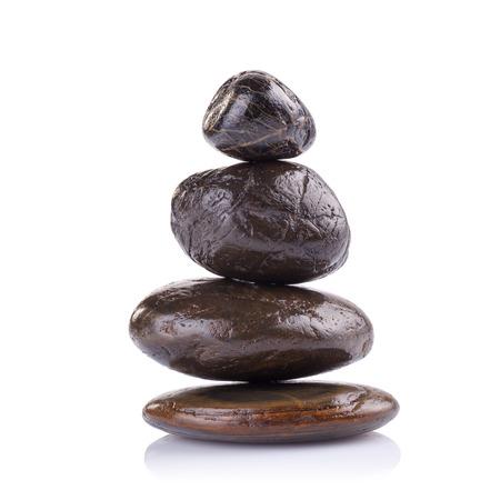 zen: Zen spa concept isolated on white background