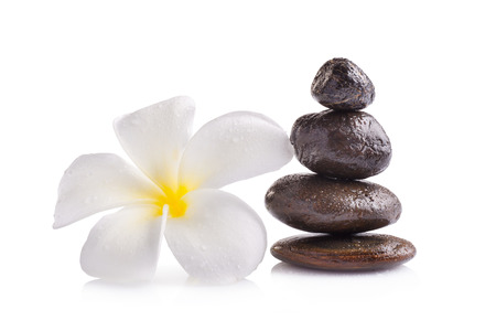 fengshui: Zen spa concept isolated on white background