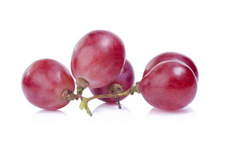 grapes: aislados de la uva sobre el fondo blanco Foto de archivo