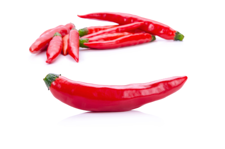 red peppers: Red peppers on white Stock Photo