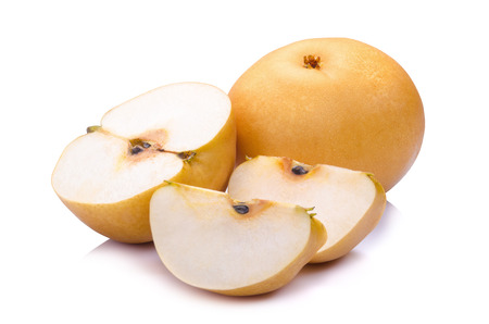 pear fruit over white background Stock Photo