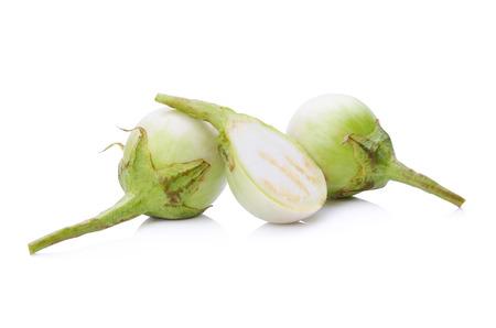 Thai eggplant isolated on white background Stock Photo - 46650323