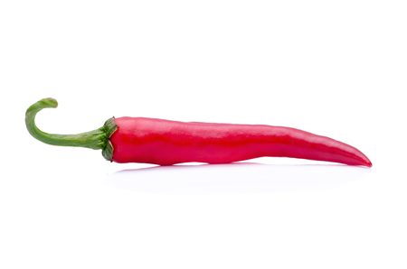 chiles picantes: Hot peppers on a white background