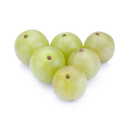formulation: Indian gooseberries on white background