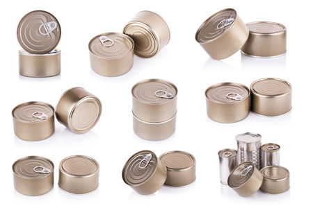 aluminum can: Aluminum can on white background
