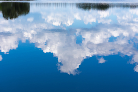 reflection water: Water reflection of cloud and blue sky Archivio Fotografico