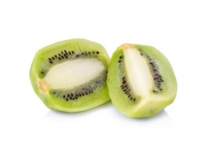cantle: kiwi fruit on white background