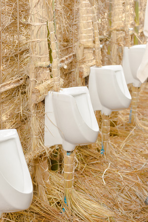 chamber pot: White chamber pot in toilet design for countryside