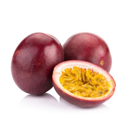 Passion fruit isolated on white background. Stock Photo
