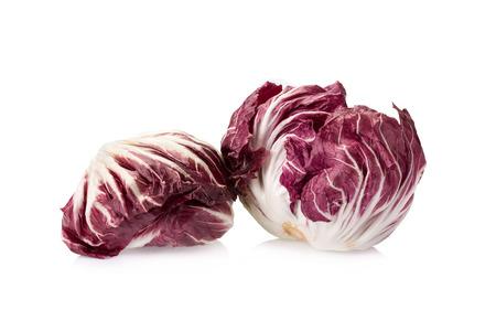radicchio: Radicchio, red salad isolated on white.