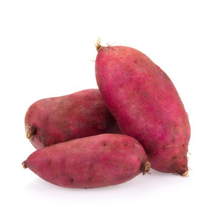 sweet background: sweet potato on the white background.