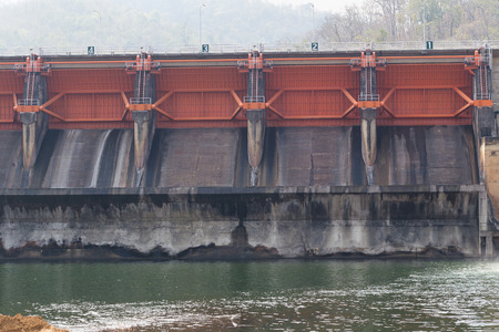 spillway: Spillway of a hydro electric Kewlom dam, Lampang province , Thailand