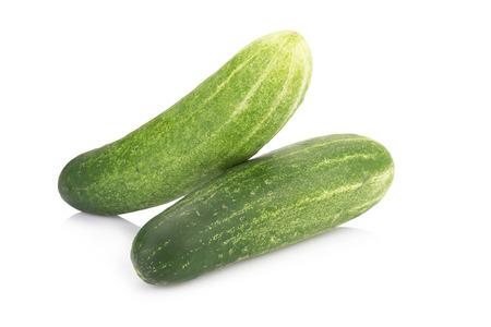 cuke: fresh cucumbers isolated on white.