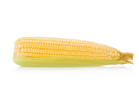 sweet foods: Corn on white background.