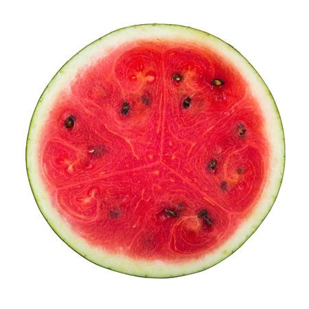watermeloen op een witte achtergrond. Stockfoto