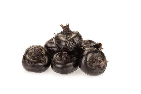 diuretic: Ground chesnut on white background. Stock Photo