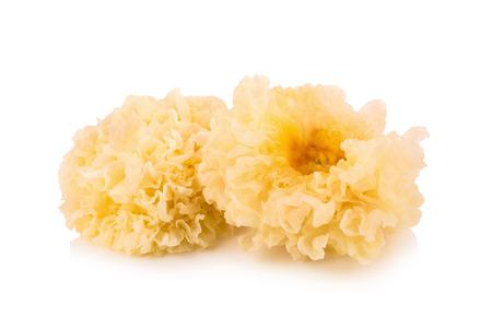 中華料理シロキクラゲは白い分離菌です。 写真素材