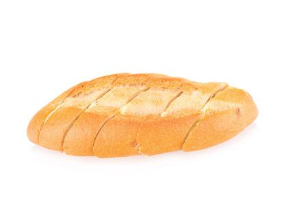 against white: garlic bread against white background.