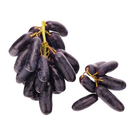 zafiro: Sweet black sapphire grapes on white background