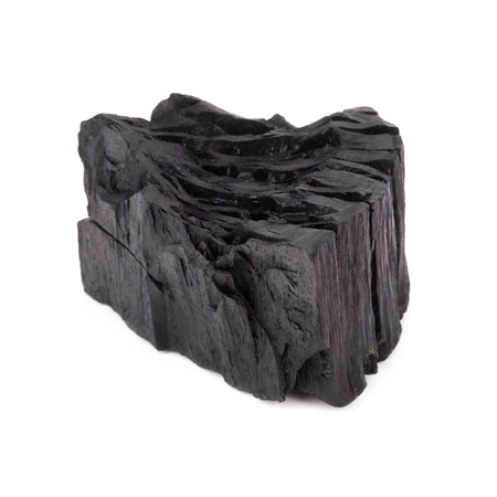 combust: Natural wood charcoal Isolated on white, traditional charcoal or hard wood charcoal, isolated on white background.