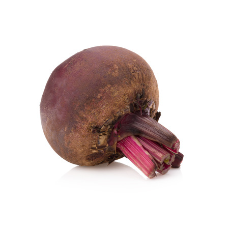 beetroot: Fresh beetroot isolated on white.