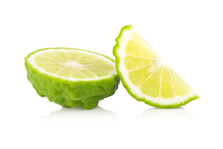 Bergamot fruit, Bergamot op een witte achtergrond. Stockfoto