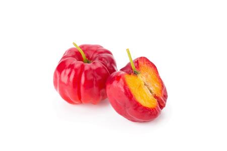 scurvy: Barbados cherry (Malpighia glabra L.). Stock Photo