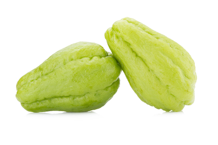 jhy: Chayote on white background. Stock Photo
