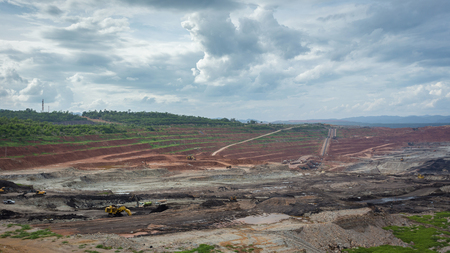 lignite: Open pit lignite mine at mae-moh Lampang Thailand