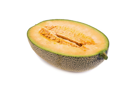 jhy: cantaloupe melon on white background. Stock Photo