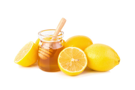 Lemon juice with honey.