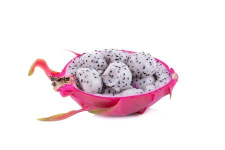 Dragon Fruit on white background. Stock Photo