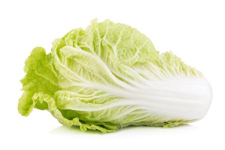 Fresh chinese cabbage on white background. Stock Photo