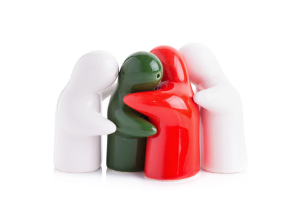 interdependence: Ghost make for ceramic. Stock Photo
