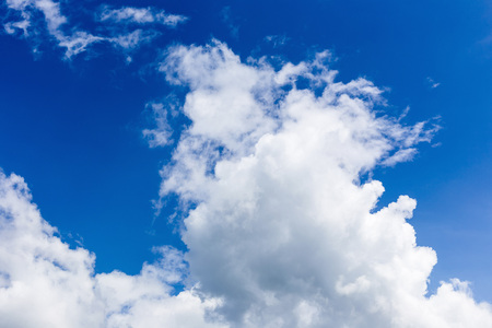Blue sky with clouds.