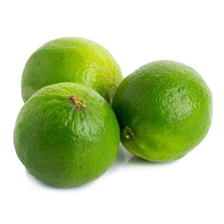 Fresh lime isolated on white background.