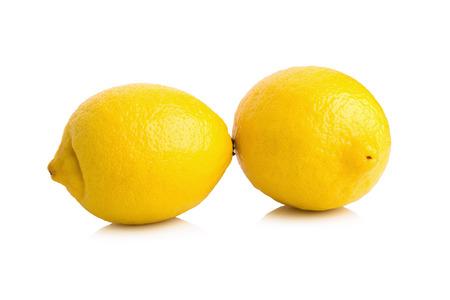 Lemon isolated on white background. Stock Photo